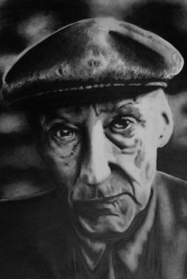 william s burroughs drawing  by luke dixon